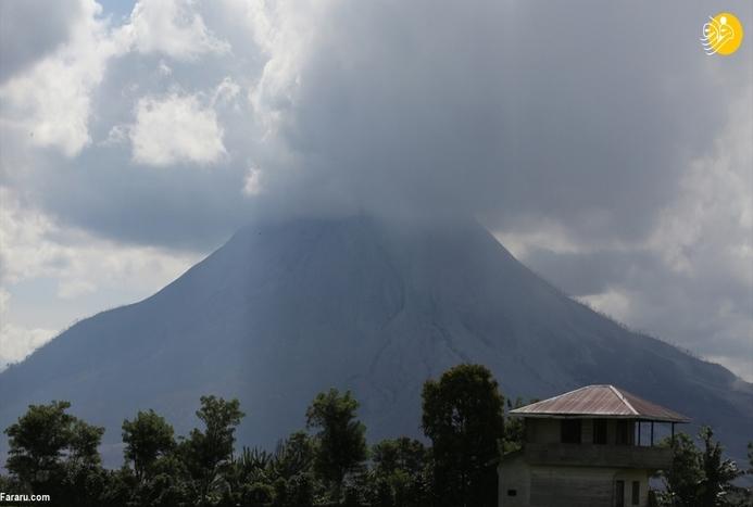 فوران آتشفشان عظیم سینابونگ در اندونزی+ تصاویر