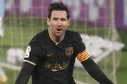 برد پرگل بارسلونا با دبل مسی و گریزمان