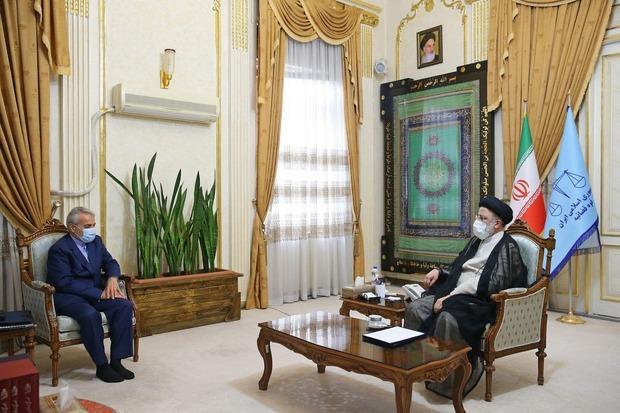 دیدار وزرای دفاع، ارتباطات و جهاد و روسای سازمان برنامه و بانک مرکزی با رئیس جمهور منتخب