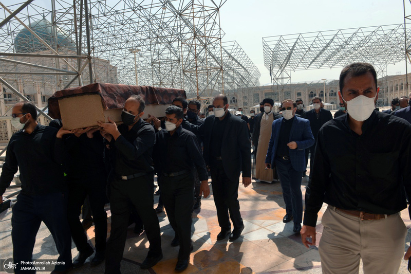 مراسم تشییع حاج اسماعیل بابایی از مسئولین حفاظت امام خمینی (س)