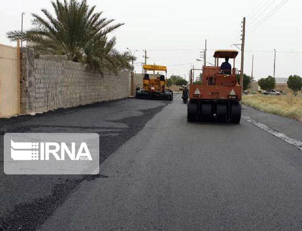 خیابانهای ۱۰ روستا در اروندکنار آسفالت شد