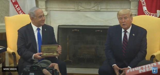 هدیه ترامپ به نتانیاهو + عکس