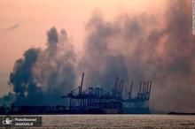 تصاویر دوربین های مدار بسته از انفجار بیروت