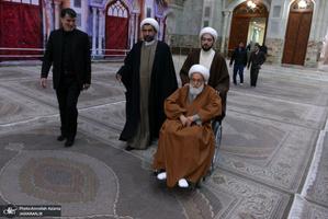 حضور شیخ عیسی قاسم رهبر شیعیان بحرین در حرم مطهر امام خمینی(س)