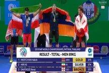 علی میری مدال نقره وزنهبرداری قهرمانی ۲۰۱۹ جهان را کسب کرد