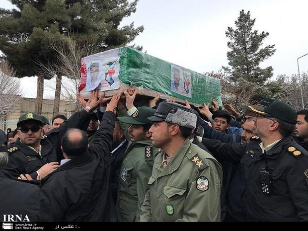 پیکر یک مرزبان شهید در قوچان تشییع شد