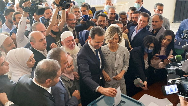 بشار اسد بعد از رای دادن؛نظرات غرب درباره انتخابات سوریه هیچ ارزشی ندارد+تصاویر