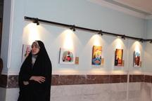 نمایشگاه تصویرگری در تکاب گشایش یافت