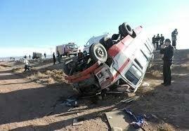 واژگونی مینیبوس در مازندران با 16 مصدوم