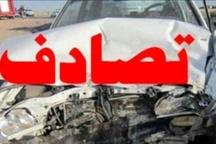 برخورد سه دستگاه خودرو در محوره ساوه - تهران  یک نفر جان باخت