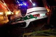 ۲ مامور انتظامی رودبار جنوب کرمان در سانحه واژگونی خودرو به شهادت رسیدند