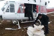 امدادرسانی به مردم روستاهای برفگیر میانه توسط بالگرد