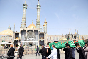 مراسم تشییع آیت الله سید محمد حسینی کاشانی(ره) در قم