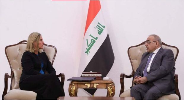 دیدار موگرینی با نخست وزیر عراق