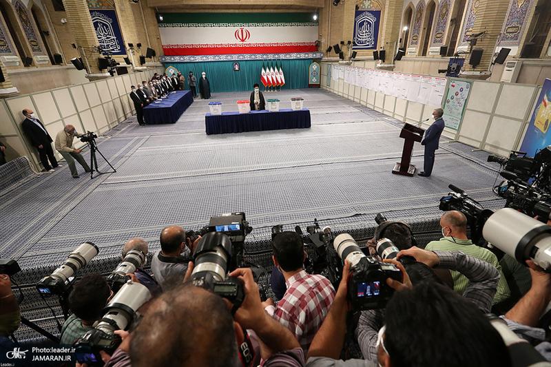 حضور رهبر معظم انقلاب در انتخابات 1400