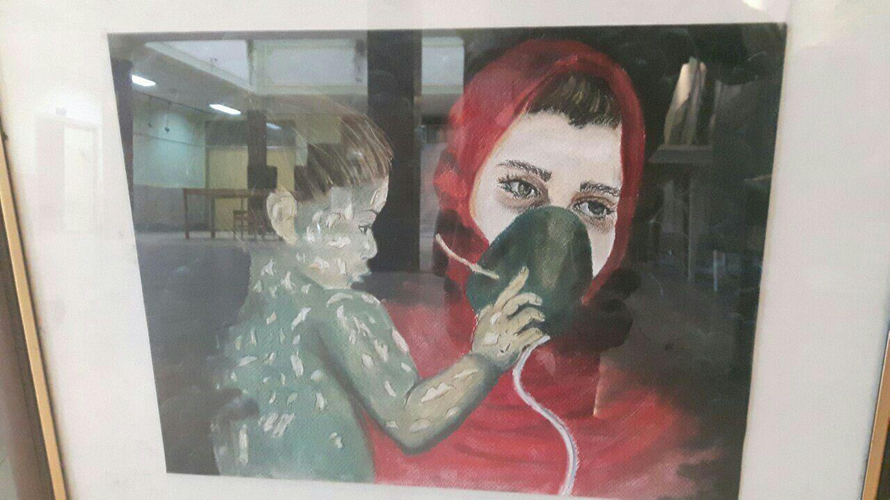 نمایشگاه نقاشی شهدای بمباران شیمیایی در سردشت گشایش یافت