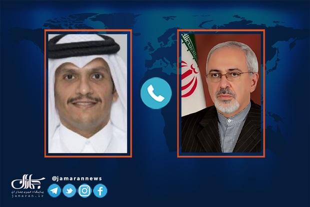 هشدار ظریف به وزیر خارجه قطر در مورد عواقب اقدام احتمالی آمریکا