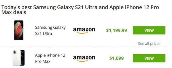 قیمت پرچمدارا سامسونگ و اپل
