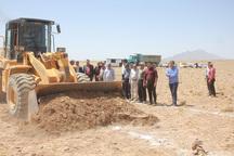 عملیات اجرایی طرح آبخیزداری در خمین کلید خورد