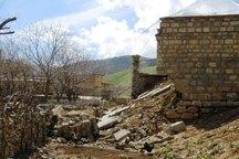 ریزش دیوار سه خانه روستایی میاندوآب بر اثر زلزله