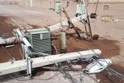توفان ۶ میلیارد به شبکه برق شهرستان انار خسارت وارد کرد