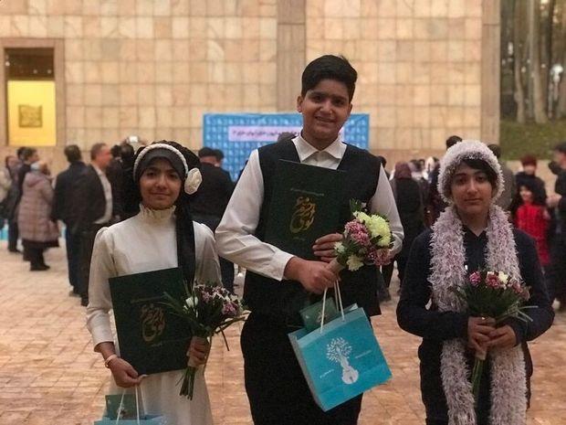 """سه هنرمند نوجوان خورموجی در جشنواره """"نوای خرم"""" برنامه اجرا کردند"""