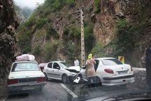 تصادف در جاده کرج - چالوس هفت  مصدوم بر جا گذاشت