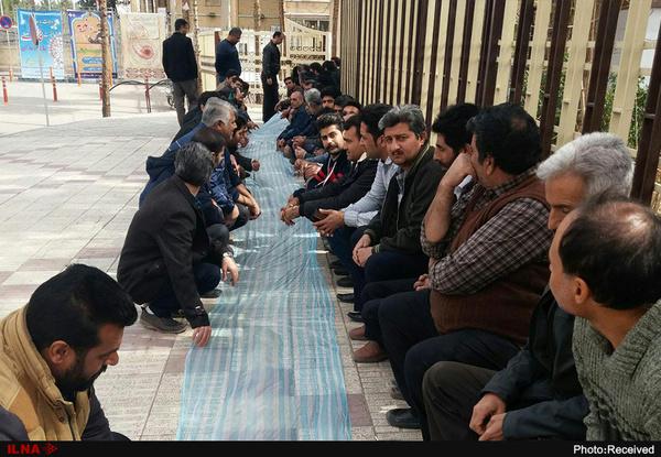 تجمع کارگران  شرکت روغن نباتی گلناز مقابل استانداری کرمان