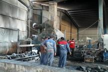 وقوع آتش سوزی در شرکت پویش لوله خوزستان + تصاویر
