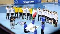 سلام نظامی ملیپوشان هندبال به پرچم ایران