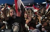 جشن و شادی پس از پیروزی بشار اسد