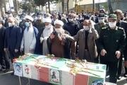 پیکر خلبان شهید اهل تربتحیدریه در این شهر تشییع شد