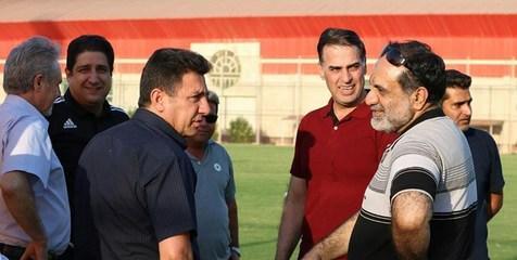 سعید آذری به استقبال سپاهان و قلعه نویی رفت + عکس