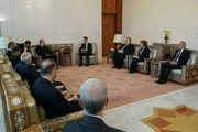 لاریجانی با بشار اسد دیدار کرد/ رییس مجلس: تهران از مبارزه سوریه علیه تروریستها حمایت میکند
